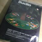 Bucilla 3576 Nativity Jeweled Felt Christmas Round Tree Skirt Crewel Kit RARE