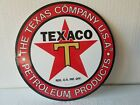 VINTAGE TEXACO GASOLINE PORCELAIN GAS OIL SERVICE STATION PUMP PLATE SIGN 1933