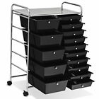 15 Drawer Rolling Organizer Cart Utility Storage Tools Scrapbook Paper Office