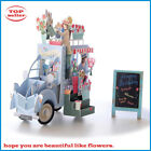 3D Pop Up Flower Truck Greeting Card Happy Birthday Gift Anniversary Flower Car