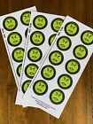Mr Yuk Stickers 30 Stickers 3 Sheets Poison Prevent Yuck LOWEST  FREE SHIP