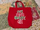 Get Your Merry On NEW Red Tote Bag Shop Books Gifts Novelty Christmas Holidays