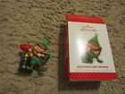 Hallmark Series Ornament North Pole Tree Trimmers #1 2013 Elf Testing Tree Light