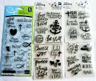 Lot of 5 Packs of Religious Bible Journaling Clear Acrylic Stamp Sets NEW Lot K
