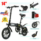 14 Foldable Electric Bike Collapsible Moped Bicycle 250W E Bike 25KM H LCD USB