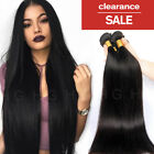 CLEARANCE Straight Indian Virgin Human Hair Extensions 4 Bundles Weave Weft HG