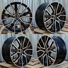 20X9 5X112 +33 GLOSS BLACK MACHINED RIM WHEELS FITS AUDI A4 A5 A6 A7 A8 S4 S5 Q5