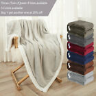Sherpa Flannel Fleece Blanket Soft Plush Warm Thickened Bed Sofa Twin Queen