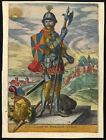Antique Print WILLIAM CLITO NORMANDY COUNT OF FLANDERS ARMOUR DOG Richer 1615
