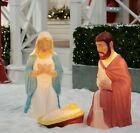 285 Lighted Outdoor Nativity Set 3 piece Holy Family Large Lights Christmas