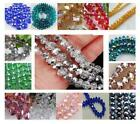 DIY Faceted Rondelle Bicone Glass Crystals Jewelley Beads 4mm 6mm 8MM