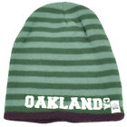 Oakland Knit Beanie Scrum Striped Cuffless Gray Hat Winter California Burgundy
