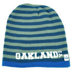 Oakland Knit Beanie Scrum Striped Cuffless Gray Hat Winter California Blue Cali