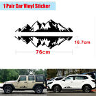 1Pair Auto SUV Car Side Door Mountain Range Black Vinyl Decal Decoration Sticker
