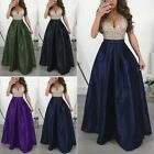 Women Sparkly Bling Party Ball Prom Gown Formal Cocktail Wedding Long Dress Lady