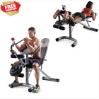 Leg Curl Machine Bicep Weight Bench Combo Workout Banca Ejercicio Equipment Home