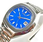 SEIKO AUTOMATIC WIND DAY DATE BLUE DIAL CASUAL STEEL MEN'S WATCH CASE 38MM