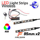2 Pcs 95mm Motors Exterior Wheel RGB LED Lighting Strips For BMW R1200R F800GT