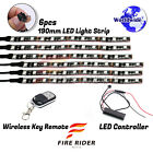 6 Pcs 190mm Motors Exterior Wheel RGB LED Lighting Strips For Benelli TNT Sport