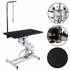 425 x 236 Z Lift Hydraulic Pet Dog Adjustable Grooming Table W Arm