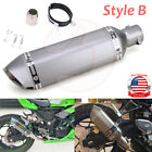 Universal Motorcycle Exhaust Muffler Tail Pipe DB Killer Slip On 38-51mm