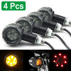 4x Motorcycle LED Turn Signal Brake Indicators Lights Lamp Bobber Chopper Custom