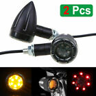 Motorcycle LED Rear Turn Signals Brake Stop Indicator Run Light For Honda Suzuki