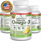 BEST TRIPLE STRENGTH Omega 3 Fish Oil Pills (3 MONTH SUPPLY) 2500mg HIGH POTENCY