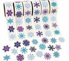 20 Snowflakes STICKERS Party Favors Supplies Birthday Treat Loot Bags Frozen 2