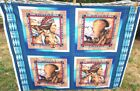 Tribal Elements Native American Pillow Chief Bison Horse Fabric Panel Sewing