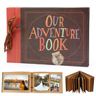Vintage Photo Album Scrapbook Our Adventure Book Memory Anniversary 80 pages
