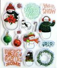 Christmas Snowman Family Clear Stamp  Die Set by Recollections 605744 NEW