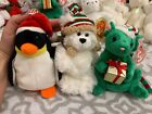 Ty Beanie Babies: ZERO, CHILLINGSLY & TIDINGS Christmas Theme! MWMT!