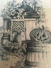 Impression Obsession Colonial Fall Rubber Stamp Halloween Jack O Lantern Pumpkin