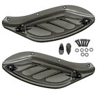 Adjustable Side Wing Deflector Cover For Harley Electra Glide Ultra 96 13 Smoke