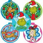 20 Shaped The Grinch STICKERS Party Favors Christmas Supplies Loot Bag How Stole