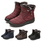 Waterproof Winter Women Shoes Snow Boots Fur lined Slip On Warm Ankle Size US