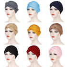 Women Elastic Beanie Turban Muslim Hijab Solid Color Head Wrap Cover Scarf Hat