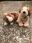ty beanie babies Set Of Two Dogs Sniffer & Rufus . Mint Condition