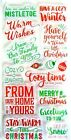 Cozy  Warm Christmas Sayings Clear Acrylic Stamp Set 605740 NEW