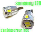 SAMSUNG 6 LED Canbus 501 W5W 194 Sidelight BULBS XENON WHITE For Ford FOCUS