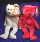 Sizzle & Huggy TY Beanie Baby 2 PCS TY MWMT  FREE SHIPPING