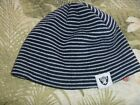 MENS NFL OAKLAND RAIDERS FOOTBALL BEANIE KNIT CAP HAT STRIPED SKI