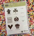 Stampin Up Clear Mount Rubber Stamps Got Treats Christmas Gingerbread Man 10 Pcs