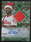 2019 Topps Holiday Andrew McCutchen Autograph Relic Card WHHRA-AM Phillies