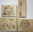 House Mouse Rubber Stamp SAND CASTLE FRIENDS Sunflower Smooch Memo Gettin Spooky