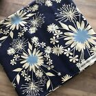 Midnight Kisses by Heidi Grace Cotton Fabric 3 Yards Dandelion Floral Navy Blue