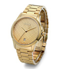 New Gucci G-Timeless Gold Tone Stainless Steel Bracelet YA126461 Mens 38m Watch
