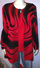 NWOT Ming Wang Black Red 2 Piece Jacket Top Twinset Size XL