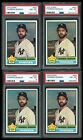 Group of (6) 1976 Topps Thurman Munson Baseball Cards All PSA 8 NM-MT